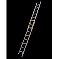Диэлектрчиеская двухсекционная раздвижная лестница Луч серии ЛСПР-5 2x16 ступеней
