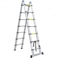 Бытовая телескопическая лестница-стремянка QH 2x8 ступеней