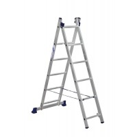 Лестница двухсекционная 2x6 ступеней Алюмет 5206 серия H2