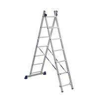 Лестница двухсекционная 2x7ступеней Алюмет 5207 серия H2
