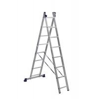 Лестница двухсекционная 2x8 ступеней Алюмет 5208 серия H2