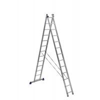 Лестница двухсекционная 2x13 ступеней Алюмет 5213 серия H2
