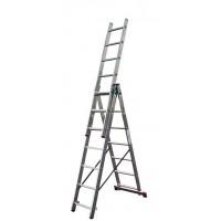 Универсальная трехсекционная лестница Krause 010377 серии Corda 3x7 ступеней