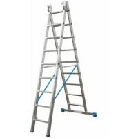 Универсальная двухсекционная раздвижная лестница Krause 123213 Stabilo 9 ступеней