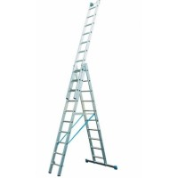 Трехсекционная лестница Krause 123947/133762 с доп. функцией серии Stabilo 3x10 ступеней