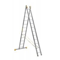 Универсальная двухсекционная алюминиевая лестница серии P2 2x12 ступеней 9212