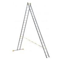Универсальная двухсекционная алюминиевая лестница серии P2 2x20 ступеней 9220