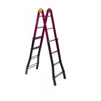 Профессиональная телескопическая лестница-стремянка B45 4x5 ступеней