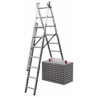 Трехсекционная лестница Krause 013422 с доп. функцией серии Corda 3x11 ступеней