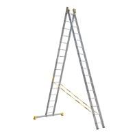 Универсальная двухсекционная алюминиевая лестница серии P2 2x16 ступеней 9216