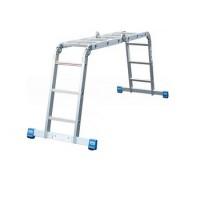 Шарнирная универсальная лестница-трансформер (4х4) серии Stabilo 123527