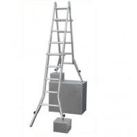 Шарнирная телескопическая лестница с удлинителями боковин (123596 4x5) серии Stabilo