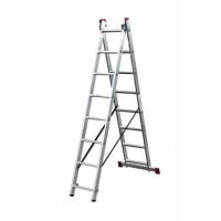 Универсальная двухсекционная раздвижная лестница Krause 010285 Corda 8 ступеней