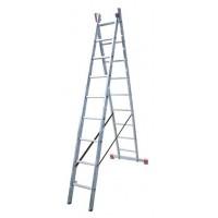 Универсальная двухсекционная раздвижная лестница Krause 120571 Dubilo 9 ступеней