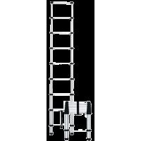 Лестница алюминиевая телескопическая приставная 8 ступеней.
